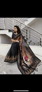 saree with stitched blouse