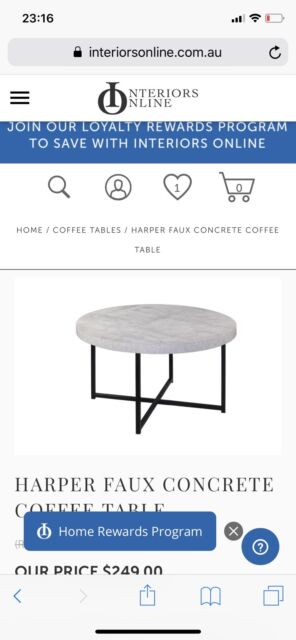 Coffee Table Pick Up Line.99 New Concrete Coffee Table 80cm Coffee Tables Gumtree