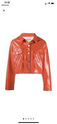 Fiorucci Berty Vinyl Crop Jacket XS Nwt