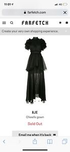 AJE black layered maxi gown dress new with tags size 4 6 XS Docklands Melbourne City Preview