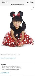 ***Brand New in Bag, Disney  Minnie Mouse costume 6-12 Mths***