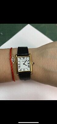Cartier tank ladies Watch 18K gold electroplated manual wind Vintage 70's