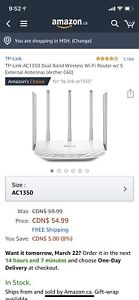 TP-Link AC1350 Dual Band Wireless Wi-Fi Router w/ 5 Antennas