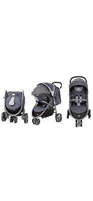 Joie Litetrax 3 Wheel Jogging Stroller Pushchair From Birth Baby Toddler Buggy