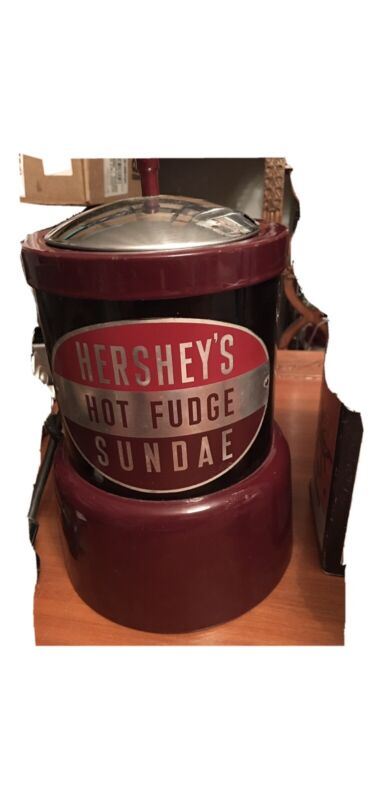 VINTAGE HERSHYS HOT FUDGE SUNDAY HEATER / WARMER ADJUSTABLE TEMPERATURE CONTROL