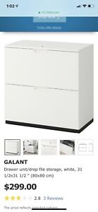 Galant filing cabinet White