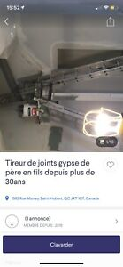 Fraude-Tireur de joint, plâtrier, gypse