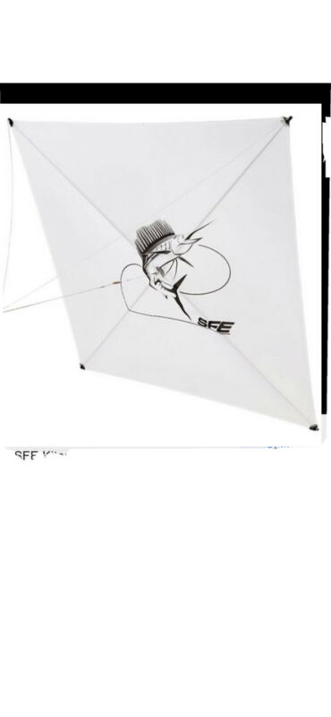 White Sfe Fishing Kite
