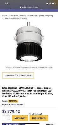 Crouse Hinds Explosion Proof Light New In Box Qty 8