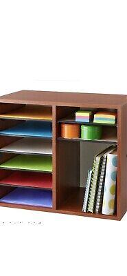 Safco 12-compartment Wood Adjustable Literature Organizer Medium Oak New In Box