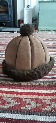 Vintage Sheepskin Winter Hat, 1970's