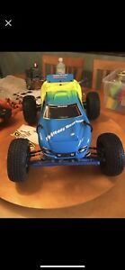Traxxas rustler Vxl 1/10 truck lots upgrades extras  brushless