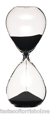 Masterclass Large 3 Minute Black Sand Traditional Hour Glass Egg Kitchen Timer 3 Minute Sand Glass