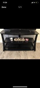3 shelf glass floating entertainment stand
