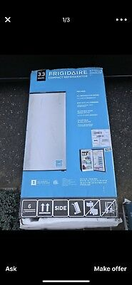 Frigidaire 3.3 Cu Ft Compact Refrigerator Stainless Steel Open Box Energy Star
