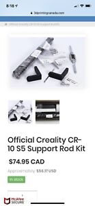 Official Creality CR-10S5 support bars