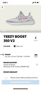 YEEZY BOOST 350 V2 blue tint (size 6)