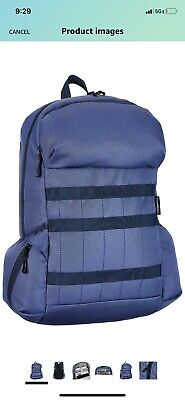 Canvas Laptop Backpack Blue Navy NEW