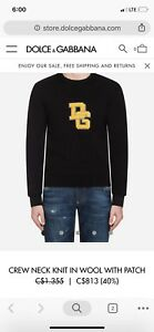 AUTHENTIC MENS D&G VARSITY SWEATER
