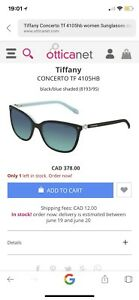 tiffany & Co  Women sunglasses with tag  brand new paid $430