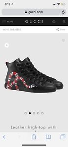 GUCCI SNAKE SHOES BRAND NEW WORN ONCE SIZE 10