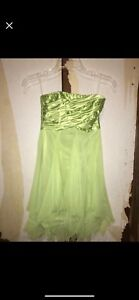 Green Strapless Pixie Dress