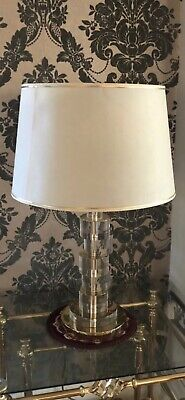 Gold Glass Cream Lamp Woth Lampshade! Stunning Art Deco Vintage