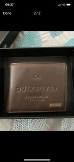 Mens new quicksilver leather wallet