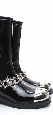 love moschino Heart Cap Boots Black38(US Women's8M)