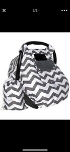 Baby Car Seat Covers (Infant Canopy) w/ Window-Flap System & Bag