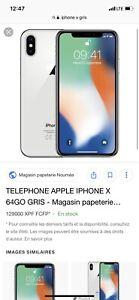 Iphone x 64g gris bell