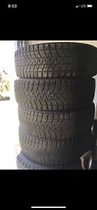 Set of Bridgestone blizzak tires - 225/65R17