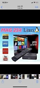Iptv service and box in mag222w installed at your house