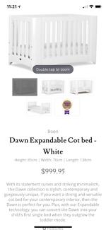 very new boori cot, mattress included
