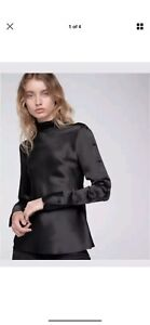 Rag and bone black silk blouse as new RRP 630 current Docklands Melbourne City Preview