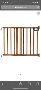 Extra wide wooden baby gate