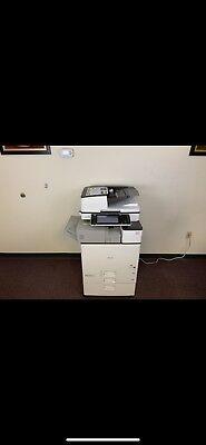 Ricoh Mp C4503 Color Copier Machine Network Print Scanner Fax Finisher
