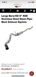"""5"""" straight pipe exhaust for L5P duramax"""
