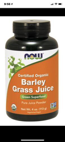 Organic Barley Grass Juice Powder 4 oz, Now Foods Green