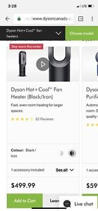 Dyson HOT+ COOL Fan (Brand new with 2 year warranty)