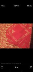 Luxurious Table cover hand made embroidered with gold threads