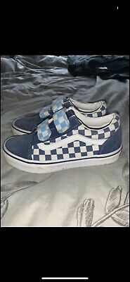 Vans Velcro Trainers Size 1uk Junior