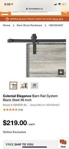 Barn Door Rail