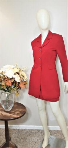 ELITE COLLECTION PARIS/NEW YORK Red 2 Piece Skirt Suit-Size 4