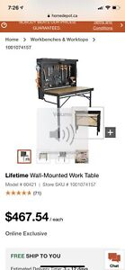 Wall Mount Work Bench Brand New in Box