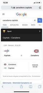 Canadiens washington