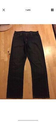 Mens Wranger Blue Jeans 38 x 34 Relax straight