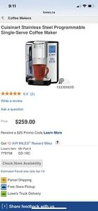 Programmable Single Serve Coffee Maker - Free delivery