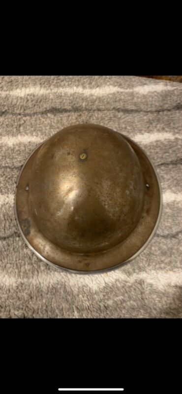 Original WW2 british helmet Converted to 1950s Civil Defense Helmet