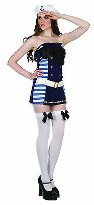 Flirty Sailor Girl Navy Nautical Fancy Dress Costume Size 10 - 12 (Flirty Sailor Girl)